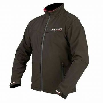 Armr Moto Soft Shell Motorcycle Motorbike Scooter Jacket Black Red - 3XL